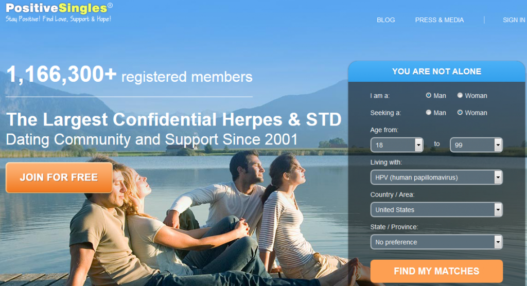 Free herpes dating site support community and support group