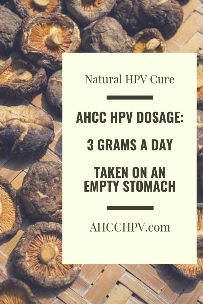 AHCC HPV Dosage